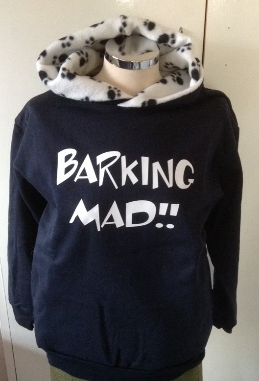I Love Heart Barking Black Sweatshirt